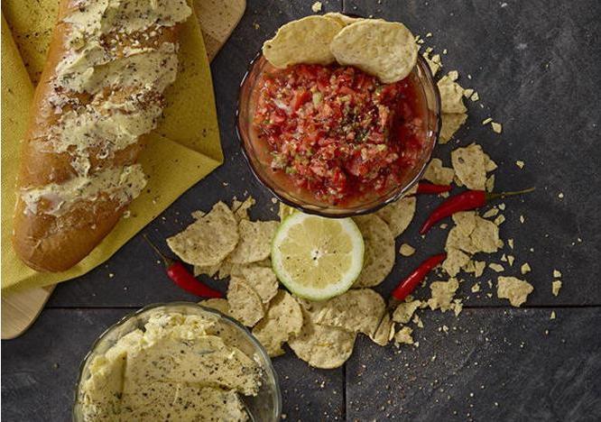 Quick Salsa and Garlic Butter