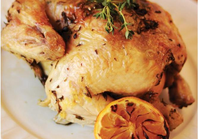 Lemon and Herb Roasted Chicken with Baby Potatoes